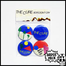 The Cure - Boy's Don't Cry [LP] Button Badge Pack - 4 x 25mm Button Badges