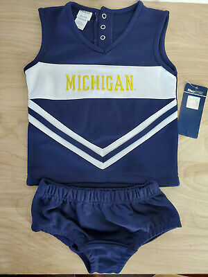 NCAA Michigan Wolverines Toddler Cheerleader Outfit