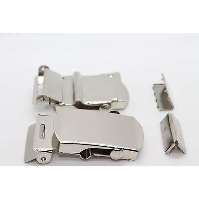 10 x 25mm Metal Webbing Belt Buckle Military Army Canvas Strap Craft UK
