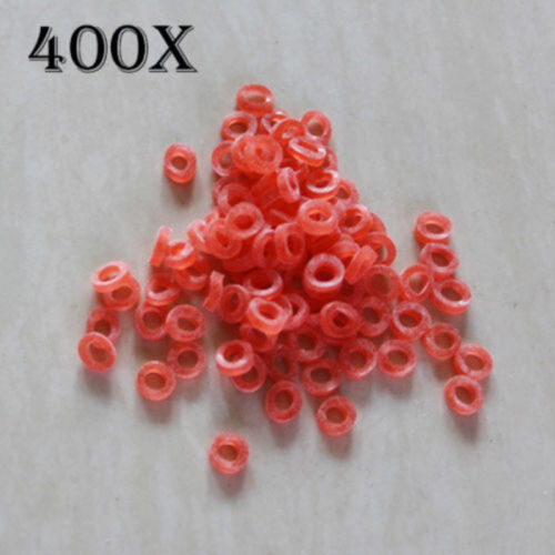 400pcs Fishing 2-12mm Bait Bands Nano Pellet Bands For Baits Carp Tackle