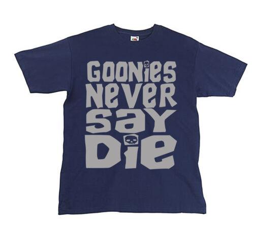Retro 80/'s Film Sloth Movie Kids Goonies Never Say Die Inspired Youth T-shirt