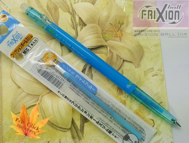 FREE gift 1 pen 2 refills Pilot FriXion ball 0.38mm erasable pen Light BLUE ink