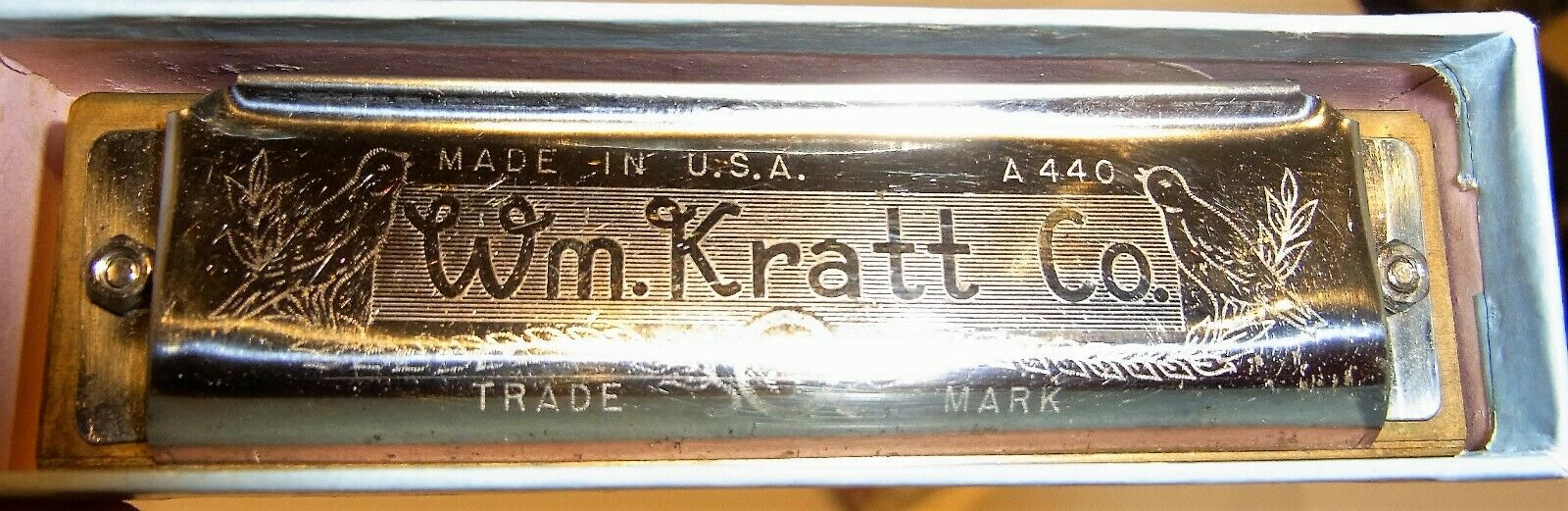 Wm.Kratt Co, A440, The Warbler, Professional Harmonica, in OVP, made in USA