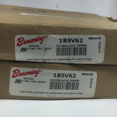 LOT OF 2 BROWNING #1B5V62 UPC#662289034024 1 GROOVE PULLEY