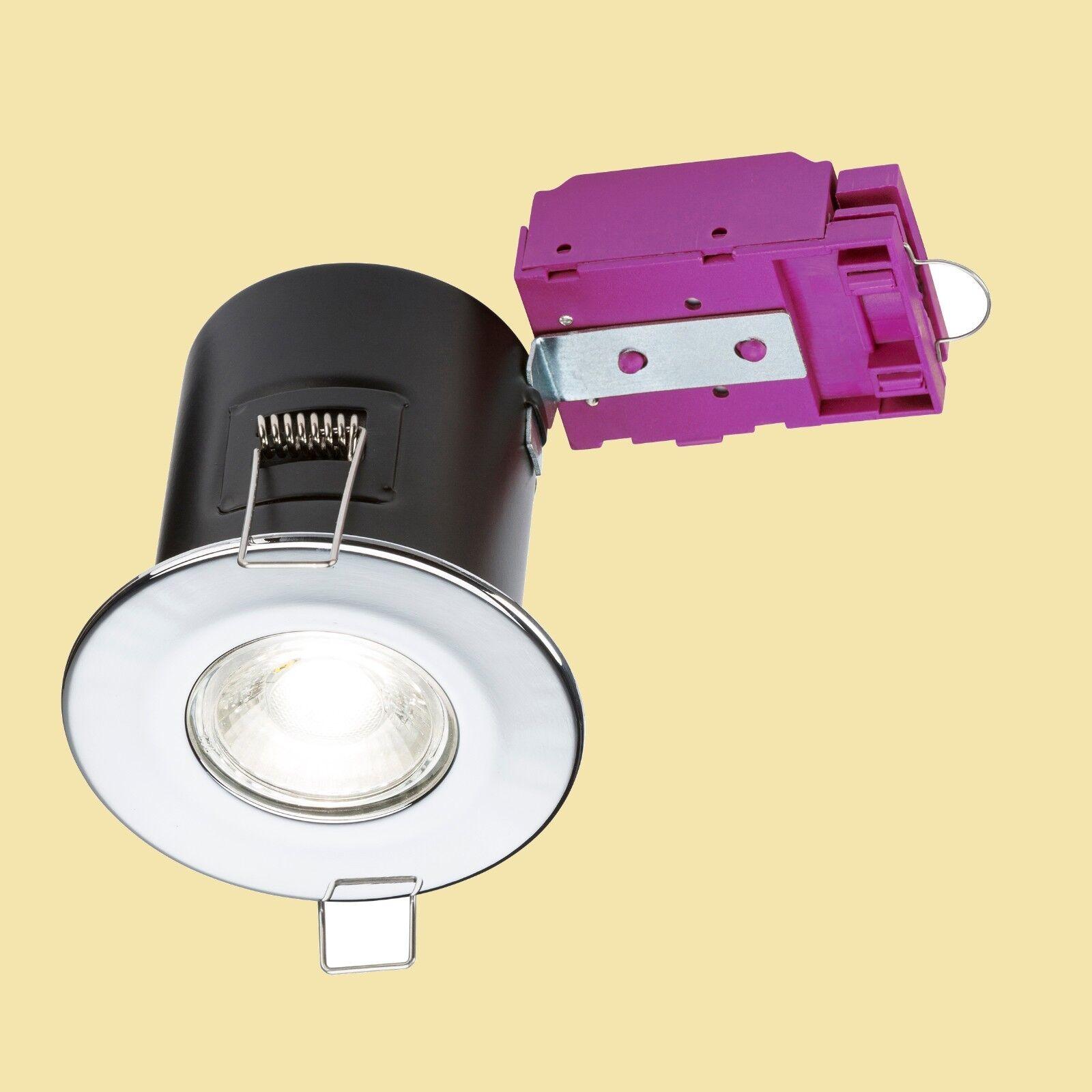20 Knightsbridge Fire Rated gu10 DEL Recessed Ceiling Ceiling Ceiling Spotlights presque Fix | Sortie  d57c36