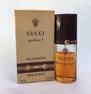 f0f0df20647b8 Details about VINTAGE GUCCI PARFUM # 1 Eau De Parfum EDP 1oz Perfume  Natural Spray in ORIG BOX