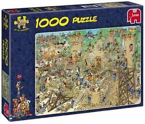 JUMBO JIGSAW PUZZLE CASTLE CONFLICT JAN VAN HAASTEREN 1000 PCS #17213 CARTOON