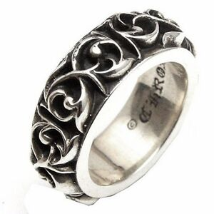 d80136b1618c Image is loading Authentic-Chrome-Hearts-Ring-Eternity-Vine-Band-All-