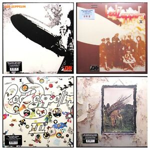 Led-Zeppelin-Lot-of-4-I-II-III-IV-in-shrink-180g-180-gram-LP-Vinyl-Record-Albums