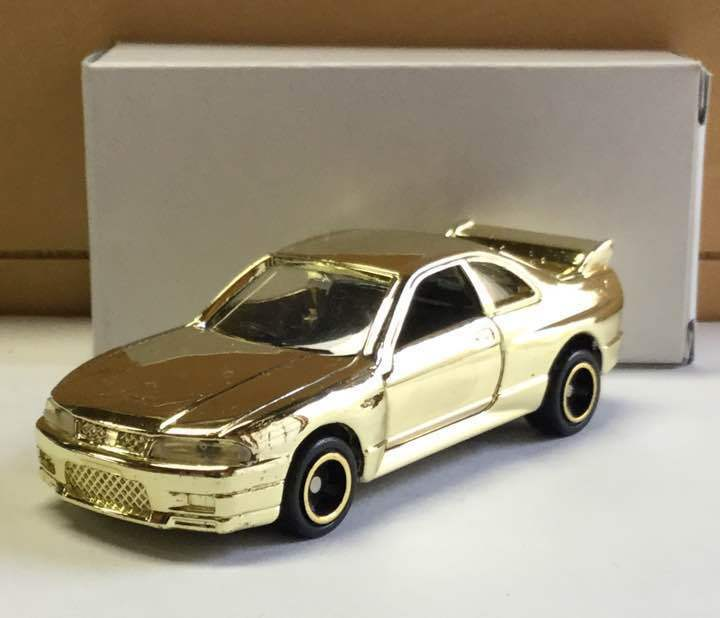 Vintage very rare  Nissan Skyline GTR R33 Gold plating mini car From JAPAN F S