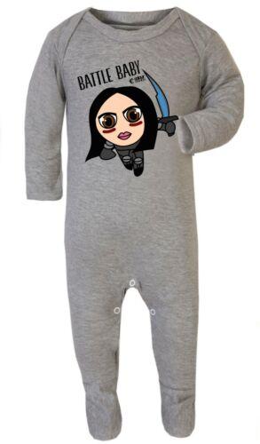 Alita Battle Baby Romper Footies Babygrow Sleepsuit Playsuit Gift 100/% Cotton
