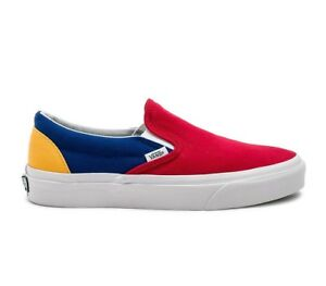 Vans Slip-On Yacht Club VN0A38F7QF2 Red Blue Yellow Men Sizes NEW ... 7dcc09d05