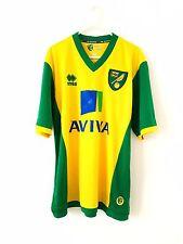 Norwich City Casa Camisa 2013. medio Errea. Amarillo Adultos Manga Corta superior sólo