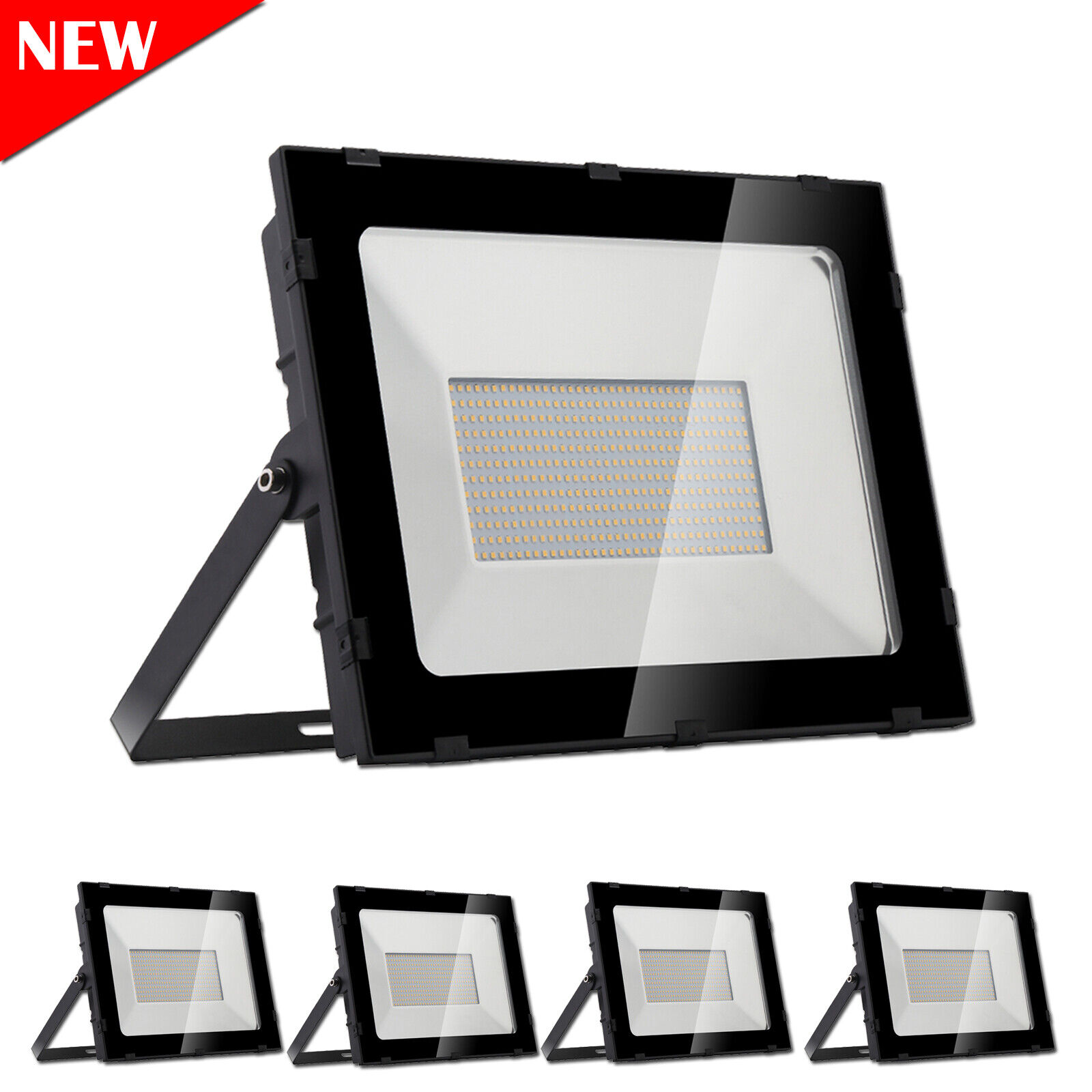 6x 300w LED eh reflector colocado warmweiβ jardín lámpara exterior emisor ultra fina ip65