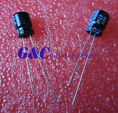 20PCS 47uF 50V 6mm*7mm Radial Electrolytic Capacitors NEW GOOD QUALITY