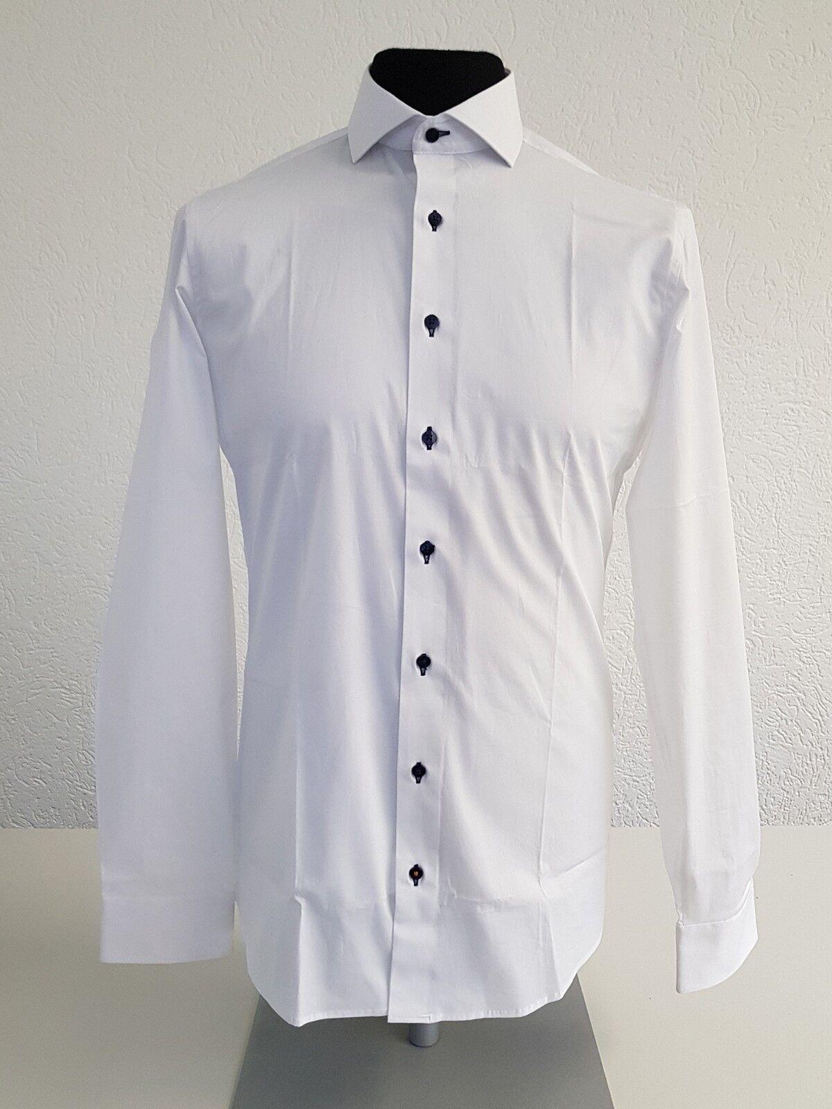 ETERNA Herrenhemd slim fit - weiß - - - Kragenweite 38 - 4677 00 F182  24 2cdfc4