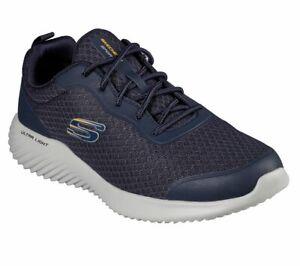 Dettagli su Scarpe Uomo Blu Skechers Bounder Ultra Leggera Memory Foam Sneaker Camminata
