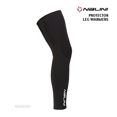 BLACK Nalini Pro PROTECTOR Full Season Water Resistant Cycling Leg Warmers