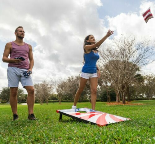 Details about  /EastPoint Sports Cornhole Stars and Stripes Outdoor Bean Bag Toss Set