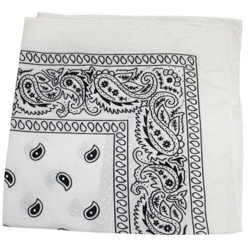 15 Pack Paisley 100/% Polyester Unisex Bandanas Bulk Wholesale