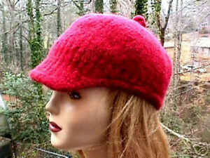 Felted Baseball Hat Dk Knitting Pattern Ebay