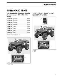 1999 2000 bombardier can am traxter 500 650 atv service. Black Bedroom Furniture Sets. Home Design Ideas