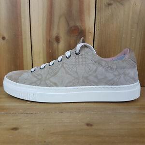 Vivienne Westwood Womens Beige Suede Trainers UK 5 Eur 38 US 7.5 Lace Up Sneaker