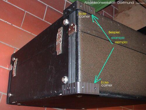 Kofferecken Akkordeon Koffer esquinas maleta acordeón accordion case corners