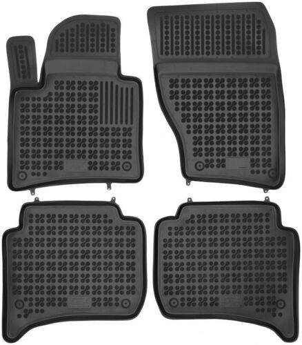 4-teilige schwarze Gummifußmatte für PORSCHE Cayenne II VW Touareg ab 10