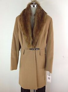 Ivanka Trump NWT VICUNA wool blend Faux fur shawl coat , size 16 ...