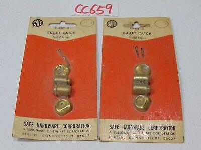 2 Vintage Nos Safe Hardware Bullet Catch Solid Brass K-4061-3 Emhart New