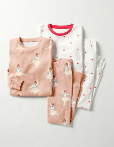5f5ffd1f5 NEW Mini Boden Twin Pack Cosy Long Johns Pyjamas - Pink Angel Red ...