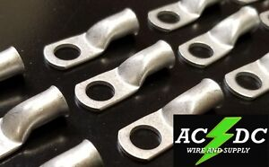 """50 1 AWG Ring 3//8/"""" Hole Terminal Lug Tin Plated Copper Cable lug Gauge"""
