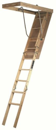 Attic Ladder Pull Down Folding Stairs Wood Steps Ceiling Door Access Louisville