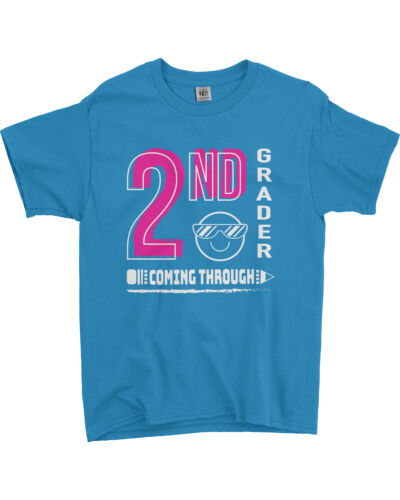 2nd Grader Coming Through Pink Youth T-Shirt Back To School Shirt