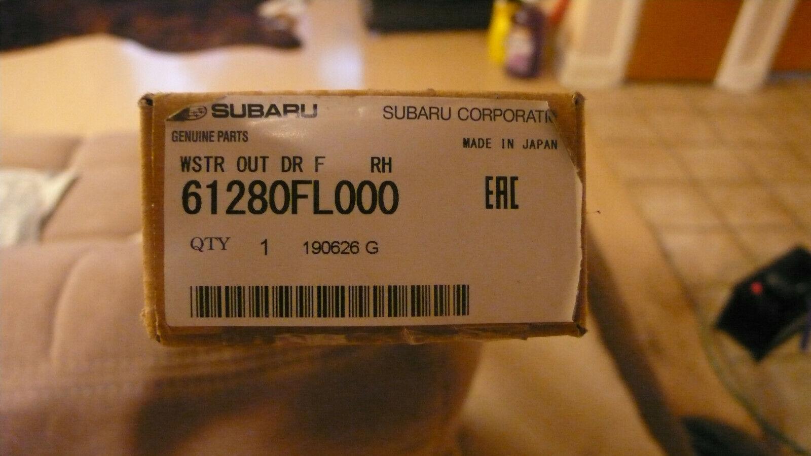 Genuine Subaru Belt Weather-Strip 61280SA010