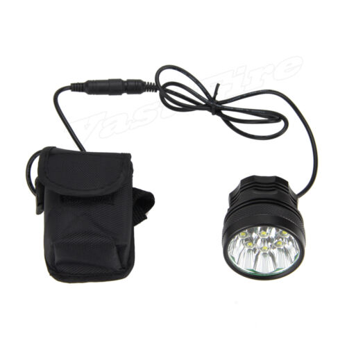 25000Lm 9x XM-L T6 LED Front Lamp Bicycle Head Light Bike 12000mAh+taillight