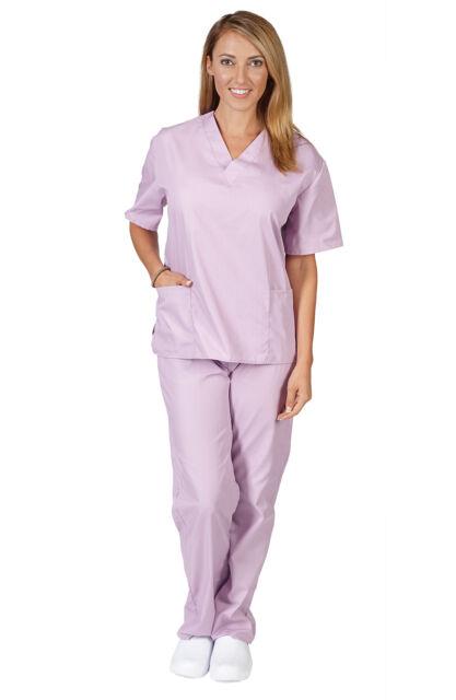 6ee83dc01e0 Unisex Medical Nursing Uniform 2 Pocket Clinic Hospital Scrubs Top ...