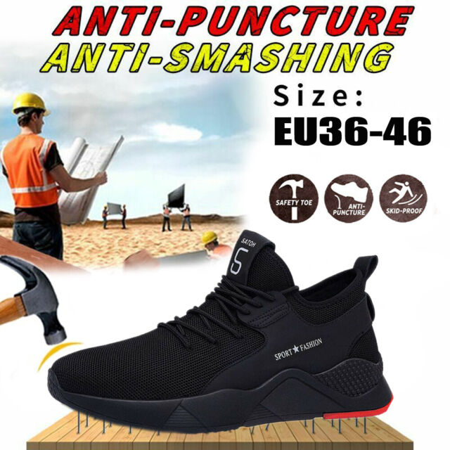 2d54556b423 Mens Work Boots Safety Shoes Steel Toe Cap Sport Protective Footwear  Trainers AU