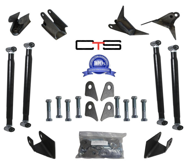 WELD ON TRIANGULATED 4LINK SUSPENSION KIT FOR HOT ROD CUSTOM AIR RIDE