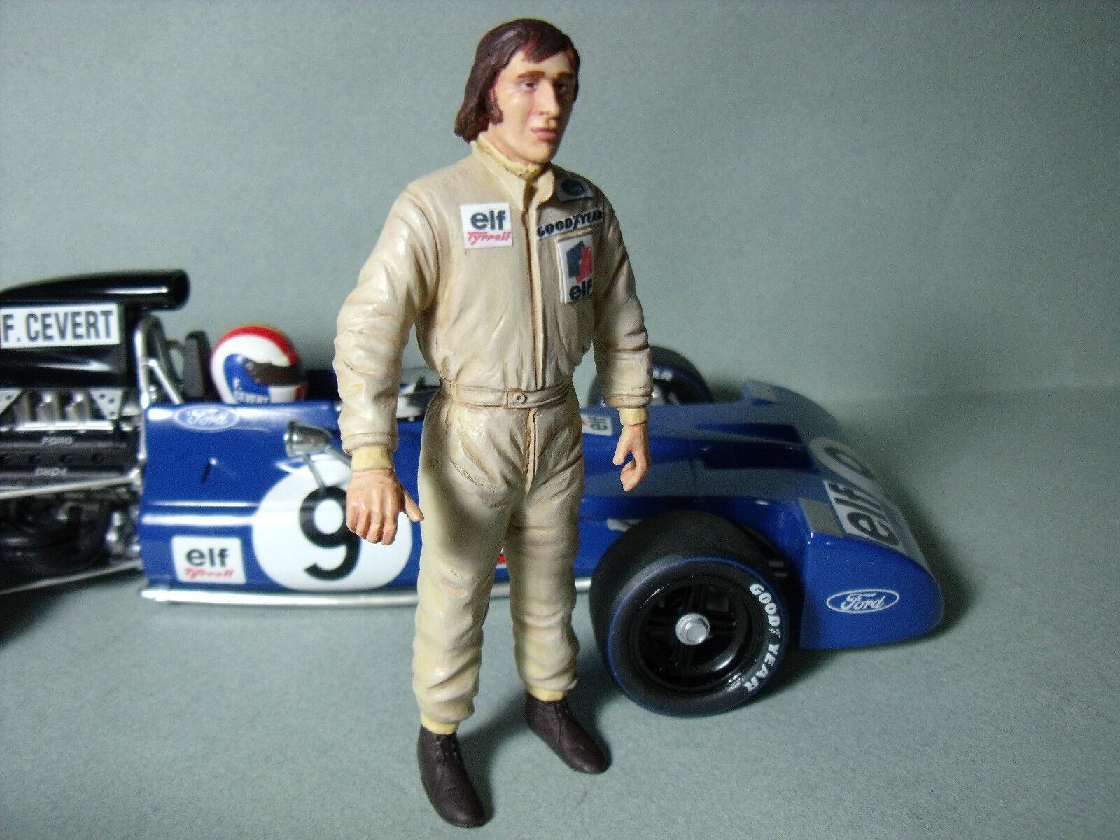 Jackie Stewart 1 18 figura pintada por brooom para Tyrrell Exoto F1