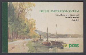 GéNéReuse Eire Irlande 1993 Comme Neuf Neuf Sans Charnière Prestige Brochure Irlandais L'impressionnisme Tableaux Sb44 Exquis (En) Finition