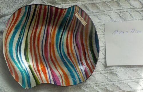 Formano Schale Platte Teller Deko 19 cm x 18 cm Plätzchen Obst Streifen