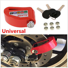 Metal Motorcycle Scooter Anti-theft Wheel Disc Brake Lock Security Alarm 1100DB