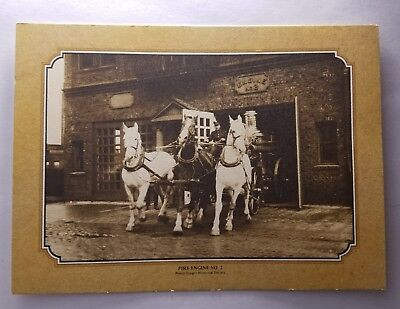 SEATTLE Fire Engine #2 Oregon Historical POSTCARD Way It Was Horses Carriage