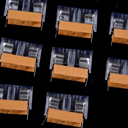 10pcs 5*20mm glass fuse holder transparent holder with cover fuse blocks、 Es