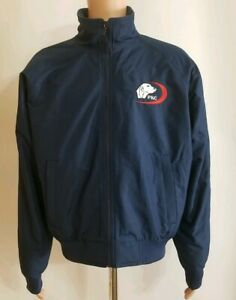Port-Authority-Professional-Kennel-Club-Zippered-Navy-Blue-Jacket-Size-M-NWT