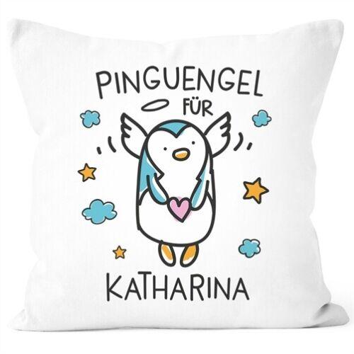 Kissen-Bezug Pinguengel Engel Pinguin Schutzengel mit Name Namenstasse