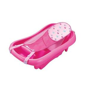 Newborn To Toddler Bath Tub Sling Girl Pink Gift Baby Infant