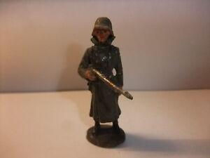 Clever G1 Alte Massefigur Lineol Elastolin Figur Wehrmacht 2. Wk Soldat Wachposten Elegant Und Anmutig